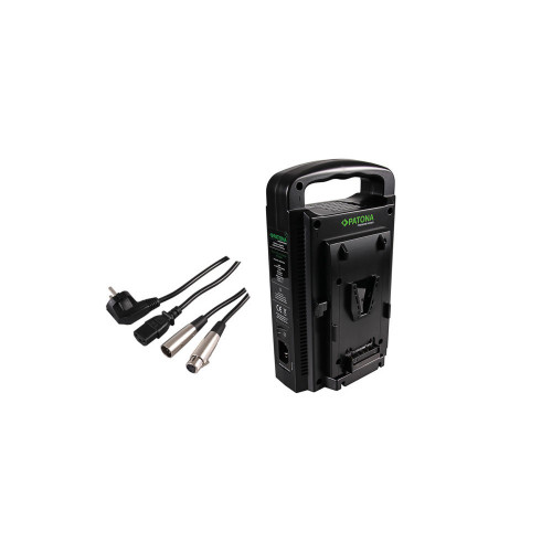 PATONA 1681 Dual V-Mount Charger f. Sony BP-95W BP-GL65 BP-190WS  incl. 4-Pin XLR cable