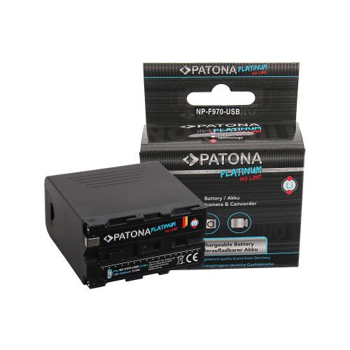 PATONA 1304 Platinum Battery f. Sony NP-F970 F960 F950 incl. Powerbank 5V/2A USB Output 10500mAh