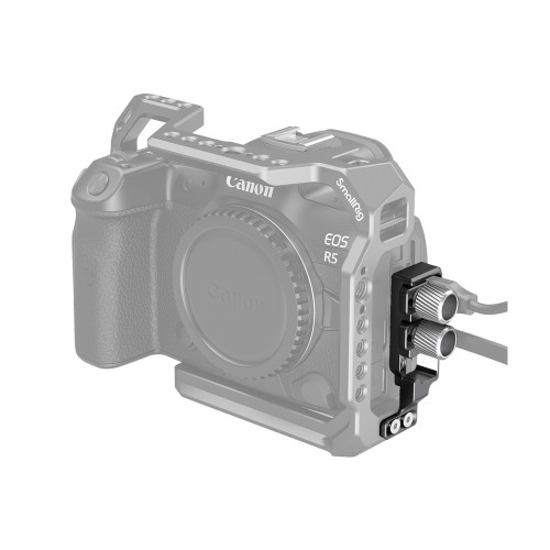 SmallRig (2981) HDMI and USB-C Cable Clamp for EOS R5 and R6 Cage
