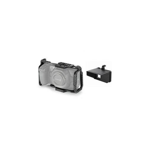 Smallrig (3047) Cage for BMPCC 4K/6K & Smallrig Sun Hood for BMPCC 4K/6K